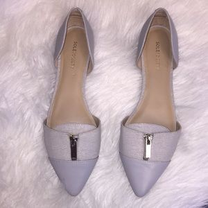SOLESOCIETY pointed toe flats